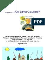 Quién Fue Santa Claudina p