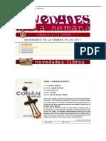 NOVEDADES DE LA SEMANA 05-08-2011