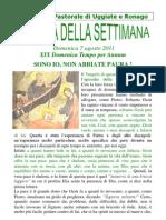 Agenda 7 Agosto 2011