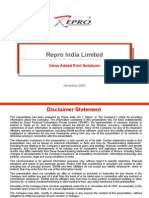 Repro India Limited Marketing Presentation