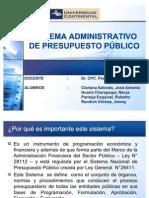 Sistema Administrativo de Presupuesto Público