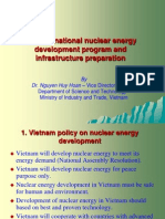Vietnam national nuclear energy development program and infrastructure preparation