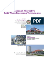 Evaluation of Alternative Solid Waste Processing Technologies