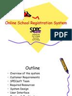 Online School Registration System Presentation