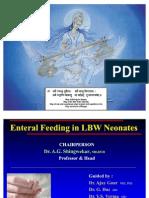 Enteral Feeding LBW