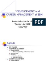 Talent Development and Career Management at Ibm