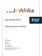 jaarverslag stichting Oud in Afrika 2010 // Annual Report 2010 Old in Africa Foundation