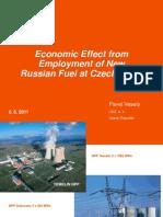Экономический эффект от внедрения новых типов ТВС российского производства на АЭС в Чехии