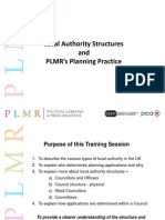 PLMR Training on Local Authority Structures and Planning Practice