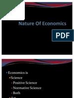 Nature of Economics