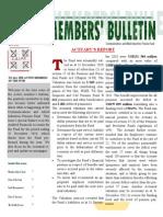 Active Memebrs Bulletin - June 2011