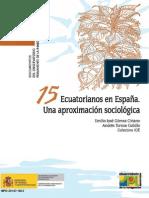 Ecuatorianos en España (2007) - Ministerio de Inmigración