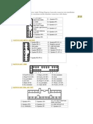 daewoo car radio stereo audio wiring diagram broadcasting 6 Speaker Wiring Diagram