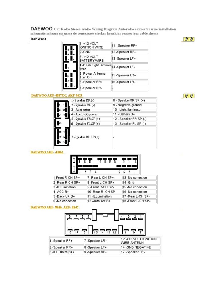 Daewoo Wiring Harness Library Panasonic Car Stereo Diagram Radio Trusted Jensen
