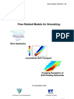 Flow Related Models for Simulating River Hydraulics Invertebrate Drift Transport Foraging Energetics of Drift Feeding Salmonids v1.0