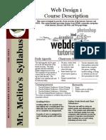 Web 1 Syllabus