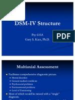P610A - Lecture 1 - DSM-IV Structure