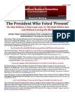 The President Who Voted 'Present'