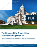 The Design of the Rhode Island School Funding Formula