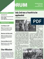 Forum August 2011 issue