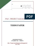 Sangram Pandit - PM1 Term Paper