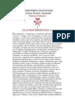 HERMETISMO E MAÇONARIA