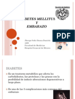 Diabetes Mellitus y Embarazo