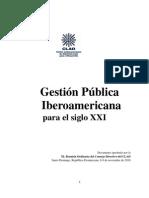 Gestion Publica Iberoamericana Para El Siglo XXI