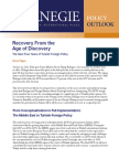 Recovery From the Age of Discovery