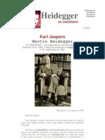 Heidegger m. Carta a Karl Jaspers