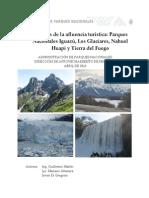 Análisis de la afluencia turística :Parques Nacionales Iguazú, Los Glaciares, Nahuel Huapi yTierra del Fuego