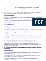 Guidelines for Risk Management in Medical Electrical Equip