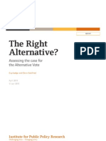 The Right Alternative? Assessing the case for the Alternative Vote