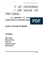 Impact of Dividend Policy on Value of the Final)