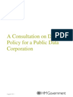 A Consultation on Data Policy for a Public Data Corporation