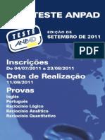 Guia Teste ANPAD Set2011