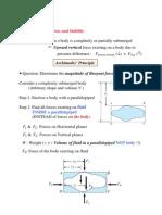 Buoyancy, Flotation, And Stability