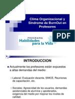 Clima Organizacional y Sindrome de BurnOut en Profesores