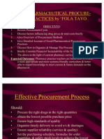 Good Pharmaceutical Procurement Practices
