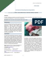 Lymph Node Infarction Simulating Acute Appendicitis