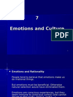 7. Emotions and Culture