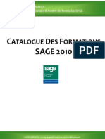 Catalogue Formations SAGE