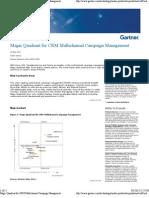 Magic Quadrant for CRM Multi Channel Campaign Management