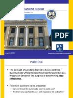 Lansdale -- Building Assessment Rev I
