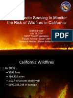 Using Remote Sensing to Monitor the Risk of Wild Fires in California