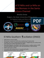 The Effects of El Nino and La Nina on Phytoplankton Biomass in the Santa Barbara Channel