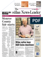 Milan News-Leader Front Page