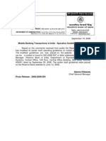 RBI circular dated 19th September 2008 on Mobile banking
