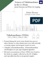Identifying Trihalomethanes in the LA Basin