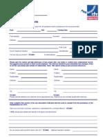 Application Form April 2005